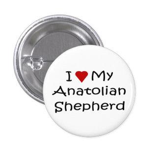 Amo mis regalos de Anatolia del amante del perro d Pin Redondo De 1 Pulgada