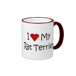 Amo mis regalos del amante de la raza del perro de taza de café