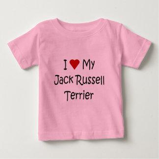 Amo mis regalos del amante del perro de Jack Camisetas