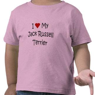 Amo mis regalos del amante del perro de Jack Russe Camisetas