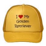 Amo mis regalos del amante del perro del golden re gorro