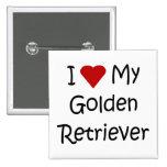 Amo mis regalos del amante del perro del golden re pins