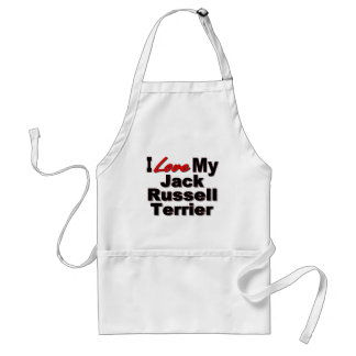 Amo mis regalos del perro de Jack Russell Terrier Delantal
