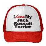 Amo mis regalos del perro de Jack Russell Terrier Gorras