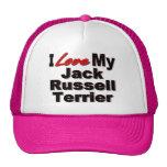 Amo mis regalos del perro de Jack Russell Terrier Gorra