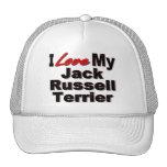 Amo mis regalos del perro de Jack Russell Terrier Gorros