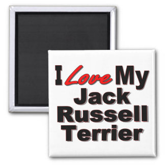 Amo mis regalos del perro de Jack Russell Terrier Iman Para Frigorífico