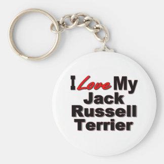 Amo mis regalos del perro de Jack Russell Terrier Llaveros