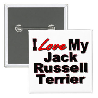 Amo mis regalos del perro de Jack Russell Terrier Pins