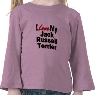 Amo mis regalos del perro de Jack Russell Terrier Camiseta