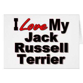 Amo mis regalos del perro de Jack Russell Terrier Felicitacion
