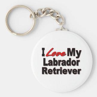 Amo mis regalos del perro del labrador retriever llavero redondo tipo pin