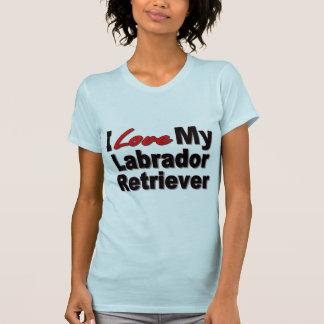 Amo mis regalos del perro del labrador retriever camisetas