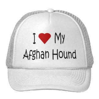 Amo mis regalos y ropa afganos del amante del perr gorra