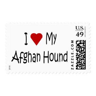 Amo mis regalos y ropa afganos del amante del sellos postales
