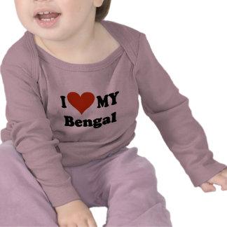 Amo mis regalos y ropa del gato de Bengala Camisetas