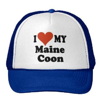 Amo mis regalos y ropa del gato de Coon de Maine Gorra