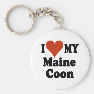 Amo mis regalos y ropa del gato de Coon de Maine Llavero Redondo Tipo Pin
