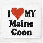 Amo mis regalos y ropa del gato de Coon de Maine Tapete De Ratón