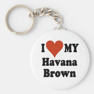 Amo mis regalos y ropa del gato de La Habana Brown Llavero Redondo Tipo Pin