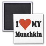 Amo mis regalos y ropa del gato de Munchkin Iman De Nevera