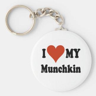 Amo mis regalos y ropa del gato de Munchkin Llavero