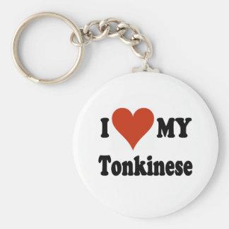 Amo mis regalos y ropa del gato de Tonkinese Llavero Redondo Tipo Pin