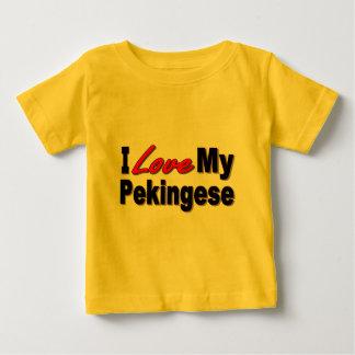 Amo mis regalos y ropa del perro de Pekingese Camisas