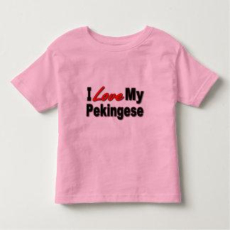 Amo mis regalos y ropa del perro de Pekingese Playeras