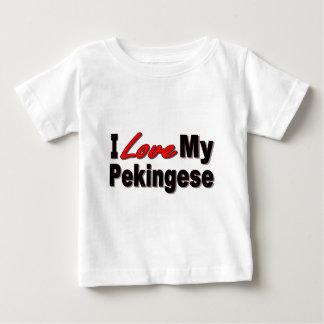Amo mis regalos y ropa del perro de Pekingese Poleras