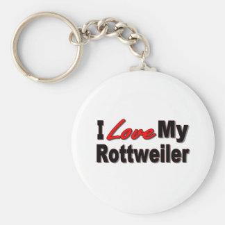 Amo mis regalos y ropa del perro de Rottweiler Llaveros Personalizados