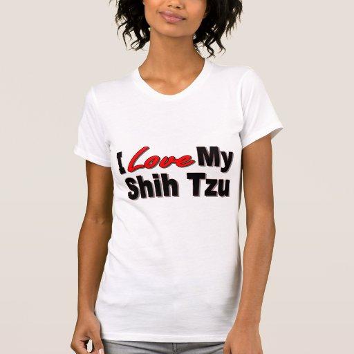 Amo mis regalos y ropa del perro de Shih Tzu Playeras