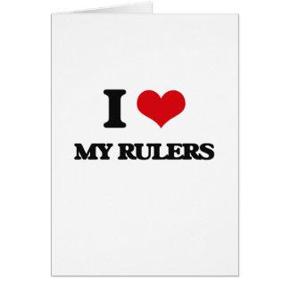 Amo mis reglas tarjeta de felicitación