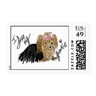 Amo mis sellos de Yorkie Yorkshire Terrier