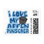 Amo mis sellos del Affenpinscher