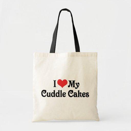 Amo mis tortas de la abrazo bolsas