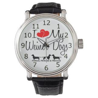 Amo mis tres perros de Weiner Reloj