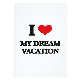Amo mis vacaciones ideales invitacion personalizada