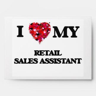Amo mis ventas al por menor auxiliares sobres