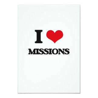 """Amo misiones invitación 3.5"""" x 5"""""""