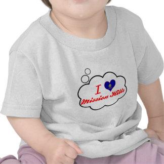 Amo Mission Hills, Kansas Camiseta