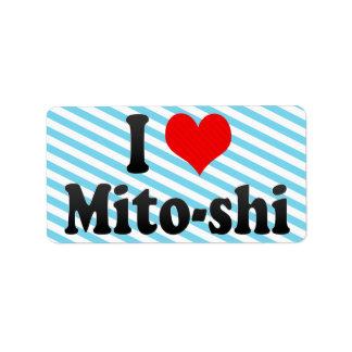 Amo Mito-shi, Japón. Aisuru Mito-Shi, Japón Etiqueta De Dirección