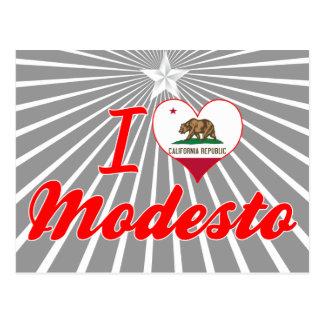 Amo Modesto California Postales