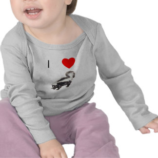 Amo mofetas (2) camisetas