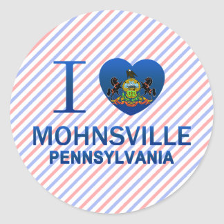 Amo Mohnsville, PA Pegatinas Redondas