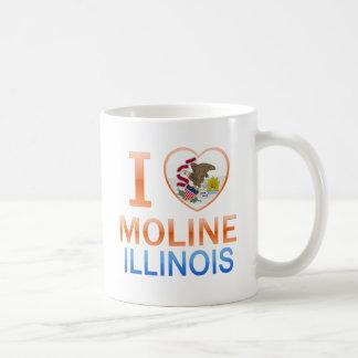 Amo Moline, IL Tazas De Café