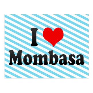 Amo Mombasa, Kenia Tarjeta Postal