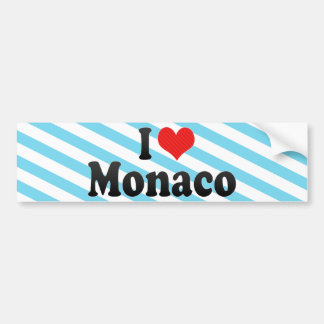 Amo Mónaco Etiqueta De Parachoque