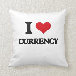 Amo moneda cojines