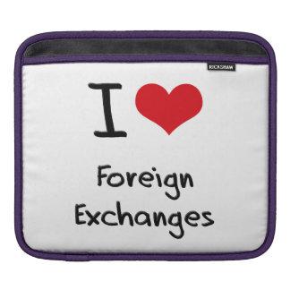 Amo monedas extranjeras mangas de iPad